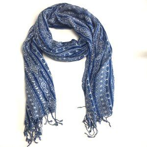 3/$25 Blue and White Big Scarf